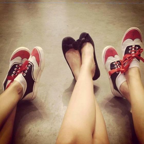 Y nos llega esta foto tan chula de unas de las primeras zapatillas SWING FREAKS que existieron! creadas en el 2013 :-)